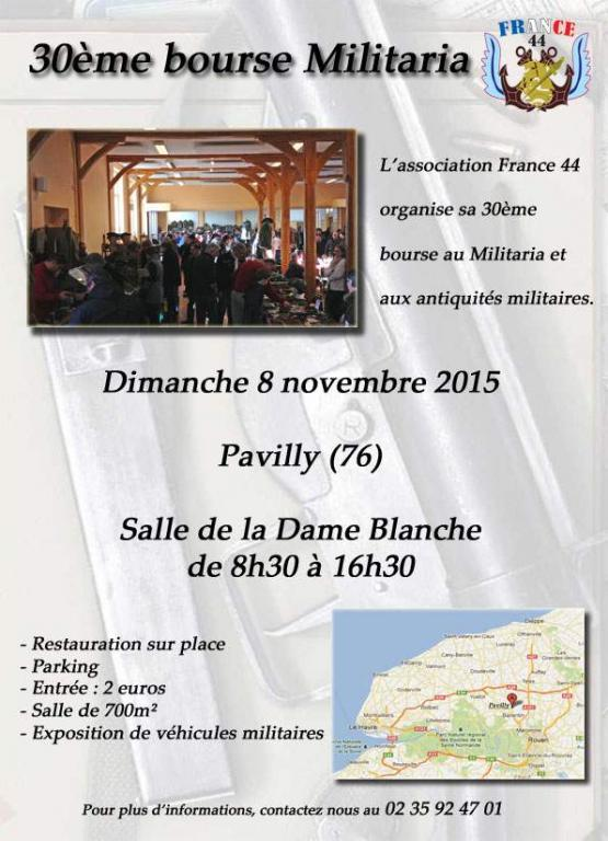 Affiche Bourse Pavilly nov 2015