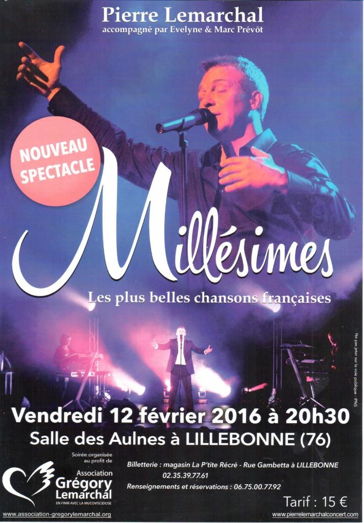 Concert Pierre Lemarchal Lillebonne Février 2016
