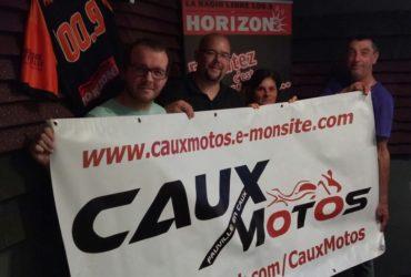 Benoît et Nicole Caux motos